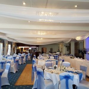 Ceiling Drapes – Berry Head Hotel