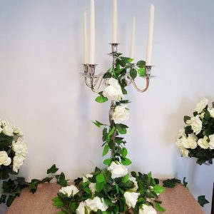 Polished Silver Candelabra