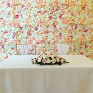 Pinks/Creams Flower Wall
