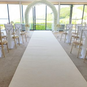 Drapes & Floral Wedding Archway