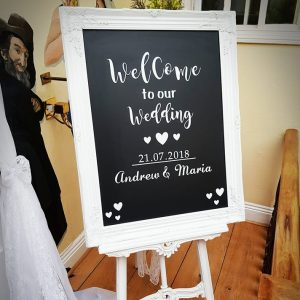 Personalised Welcome Board & Easel