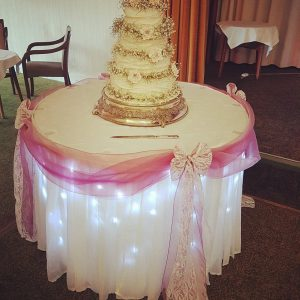 Sparkle Cake Table Skirt
