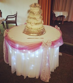 Cake table skirt torquay