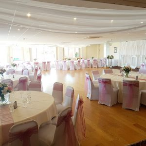 Ceiling Drapes – Livermead Cliff Hotel