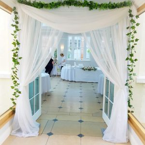 Freestanding Door Drapes
