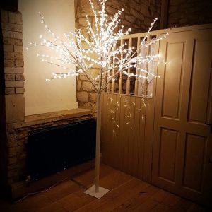 8ft White LED Sparkle Tree