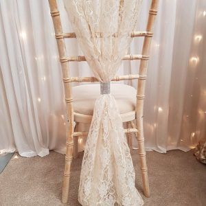 Chiffon & Lace Chair Drapes