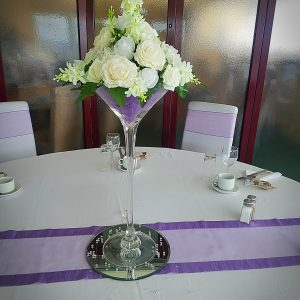 Martini Vase Centrepieces