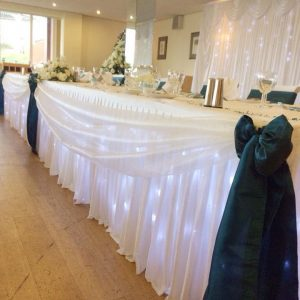 Sparkle Top Table Skirt