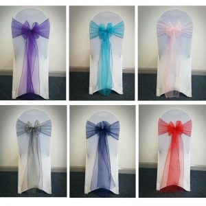 Chair Cover with Organza Sash
