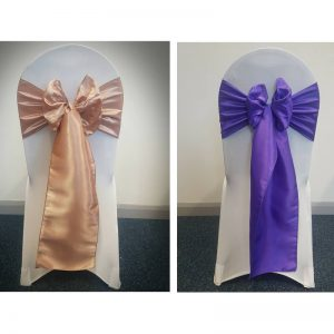 Chair Cover with Taffeta Sash