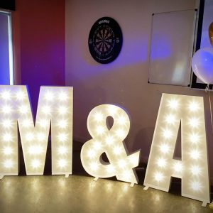 Illuminated Freestanding Letters