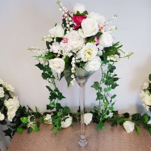 Fresh & Artificial Martini Vase Centrepieces