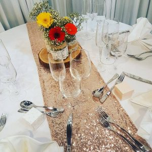 Sparkle Sequin Rose Gold Table Runner