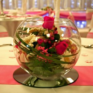 Fresh Flower Fish Bowl Centre Piece