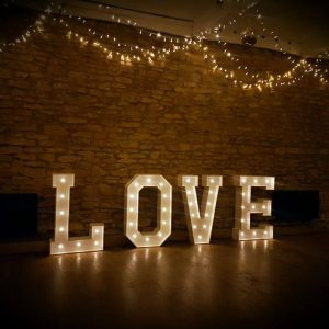 "Light Up ""Love"" Letters"