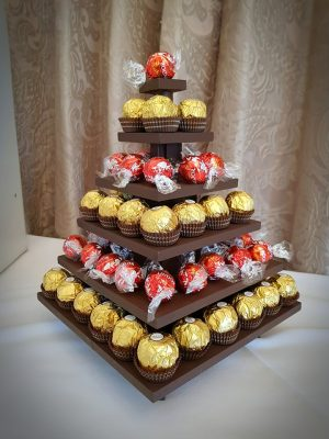 ferrero and lindt pyramid hire wedding devon
