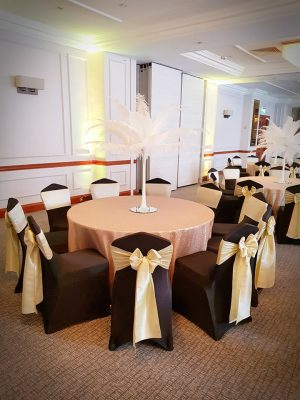 Ostrich feather centre pieces for weddings and events in devon