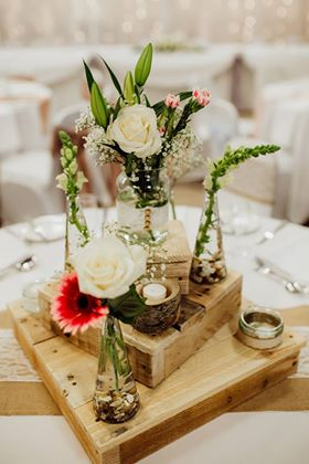 Tiered Wooden Centrepiece