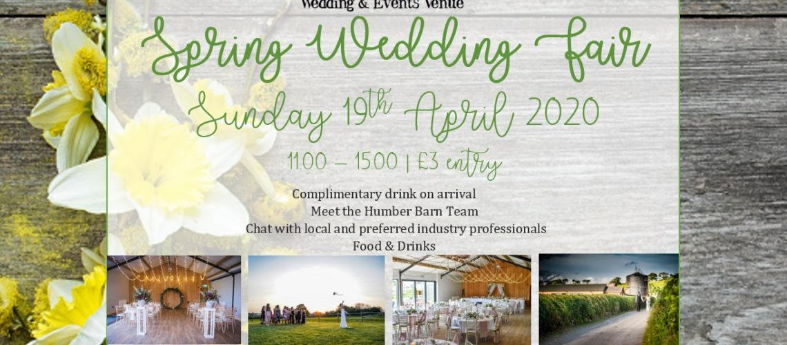 Humber Barn Spring Wedding Fair 2020