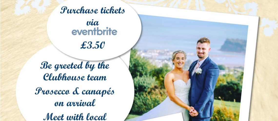 Teignmouth Golf Cub Wedding Fair poster